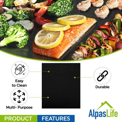 Alpas Life grill mat features easy to clean, durable, multipurpose